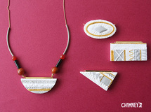 [4種] curve necklace/white