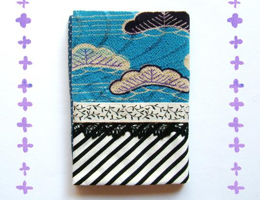 アンティーク着物カードケース松