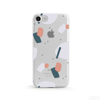 【人気商品】Pastel Collage1 クリアソフト ケース[iPhone5~iPhoneXS, iPhoneXS Max/ XR & Samsung Android]