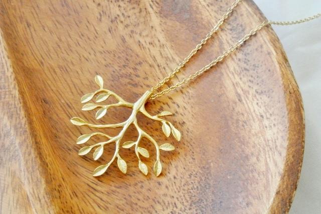 <マットゴールド>Tree of life のチェーンネックレス