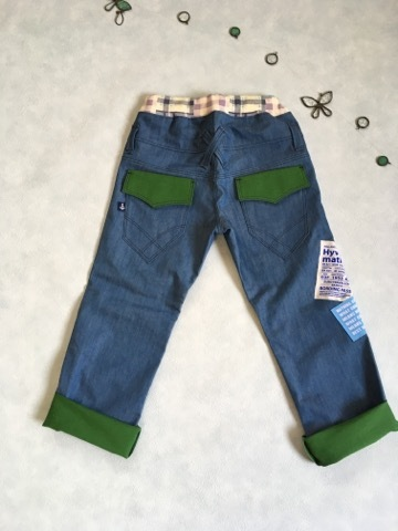 474192019d2bec 120サイズ 男前 ストレートパンツ デニム 男の子パンツ | ハンドメイド ...
