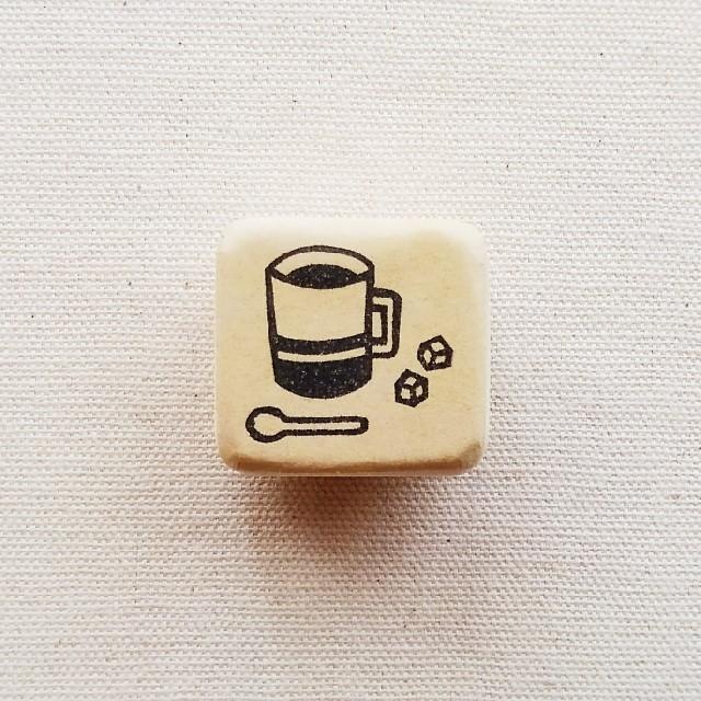 ゴム版はんこ《カフェ 》