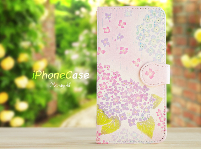 紫陽花 スマホケース iPhone8 iPhone7 iPhone6s/6 iPhone7Plus iPhoneSE iPhone5s/5 iPhone6sPlus iPhone8Plus 花 ケース
