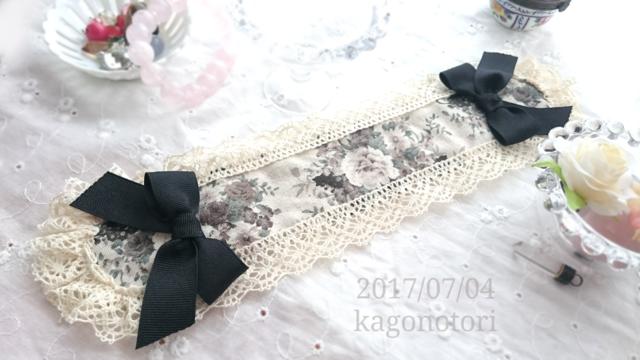 ヘッドドレス風カチューシャ(黒薔薇)