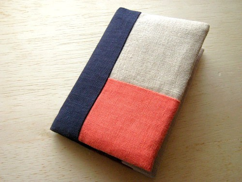 minimini note cover (orange&navy)
