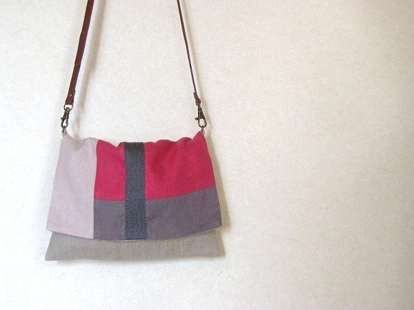 itoiro bag (gray&pink)