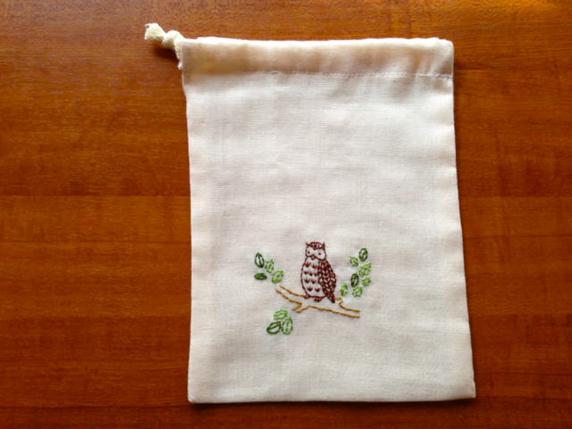 刺繍ポーチ