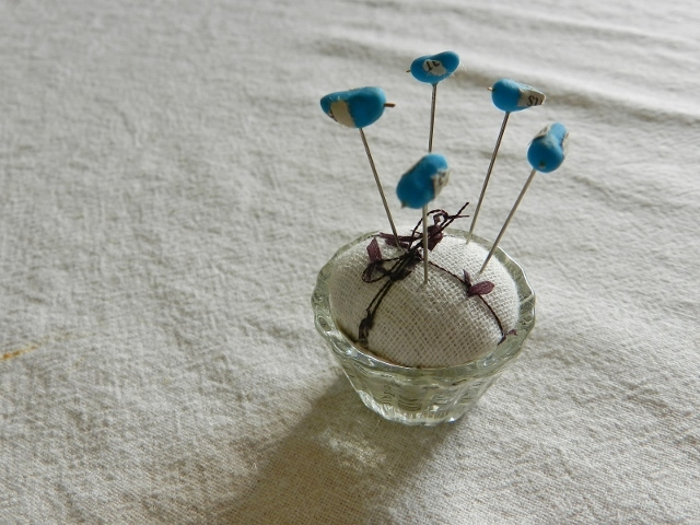 再販 しあわせの青い鳥飾り待ち針