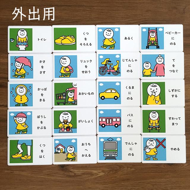 視覚支援のための絵カード 70枚セット (発達障害・生活カード ...