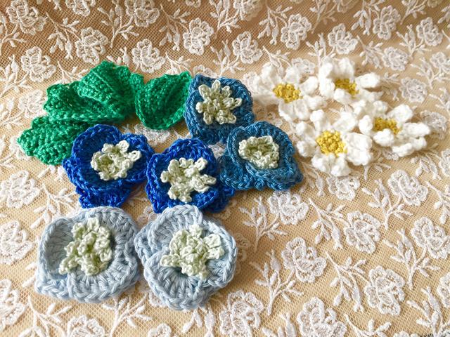 副資材  かぎ針編み お花モチーフ