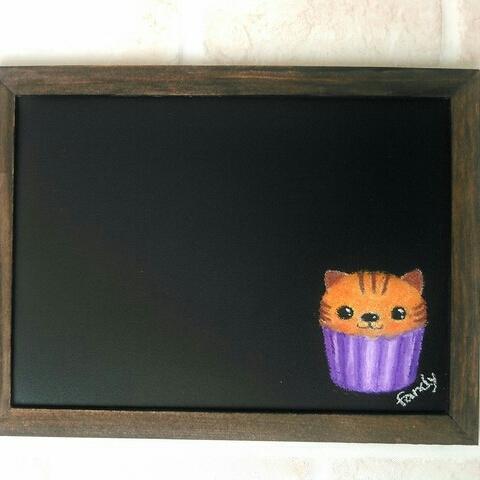 ねこカップケーキ*マグネットボード