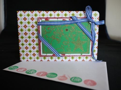 クリスマスカード009 トナカイ