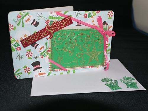 クリスマスカード010 トナカイx雪だるま