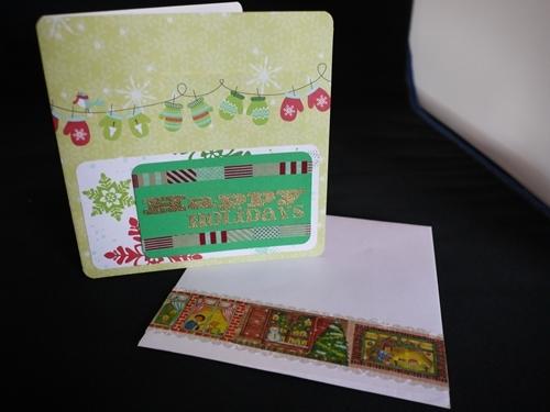 クリスマスカード015 手袋