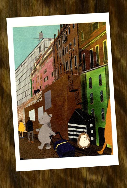再販しました! ネズミくん 街を歩く(ポストカード2枚セット)010