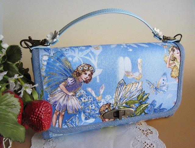 シシリーメアリー花の妖精お財布バックSKY