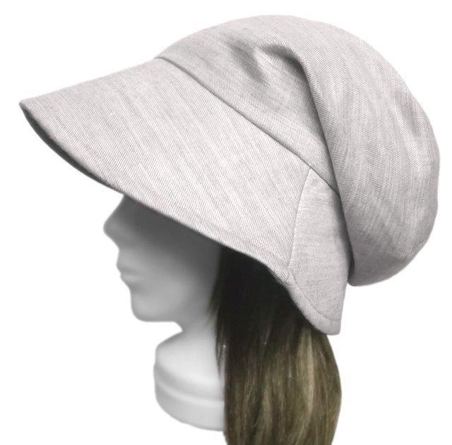 綿麻ツイル/つば広女優帽子(ゆったり)◆...
