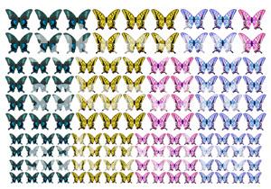 レジン封入用シート : Tiny Butterfly...