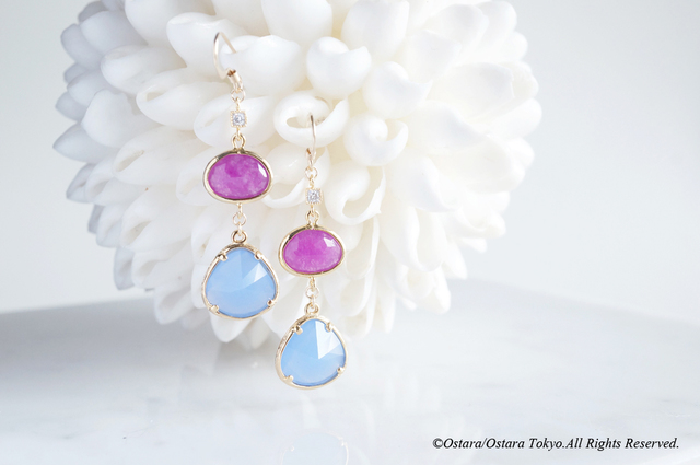 【Procida】14KGF Earrings(Royal Blue ...