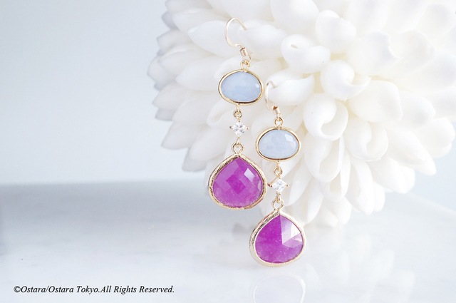 【Procida】14KGF Earrings(Purple x Po...