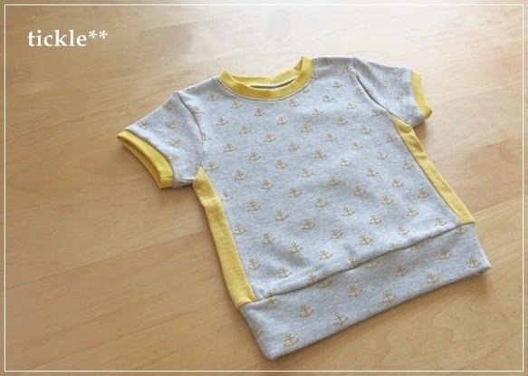 イカリ*サイド切り替えTシャツ:90サイズ