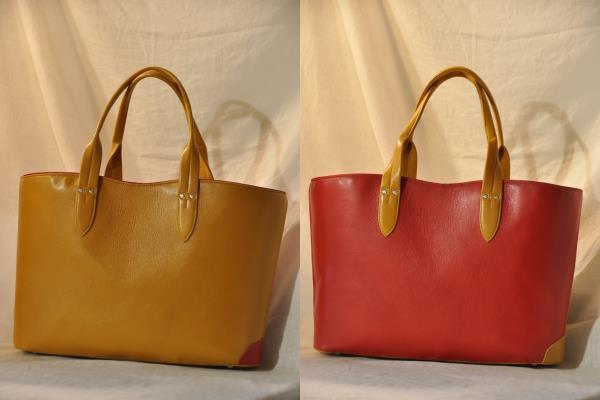 <Dog Tail Bag No.3> 赤xキャメル