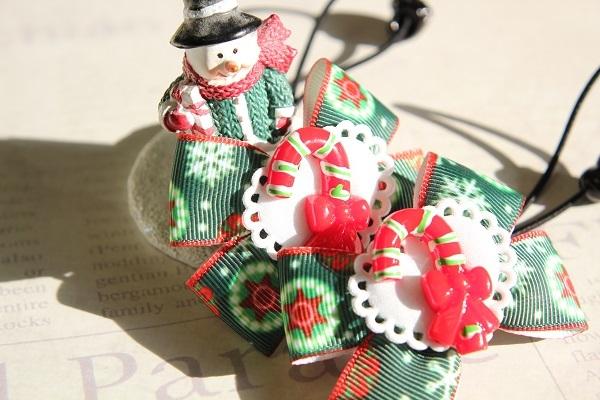 クリスマスのリボンヘアゴム☆D