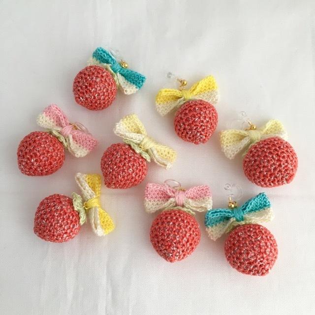 【受注生産】リボン×赤イチゴのキラキ...