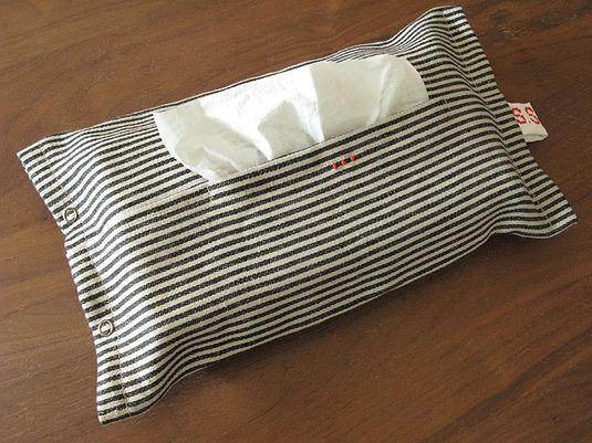 ティッシュケース stripe(3dots)
