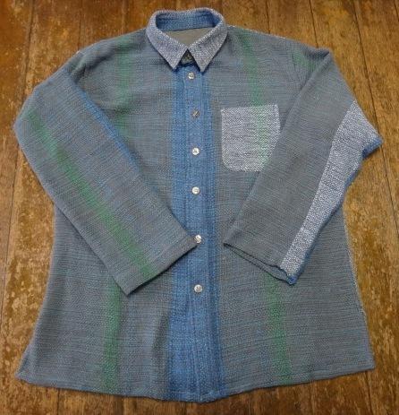 さをり織り素敵 メンズシャツL寸 送料無料