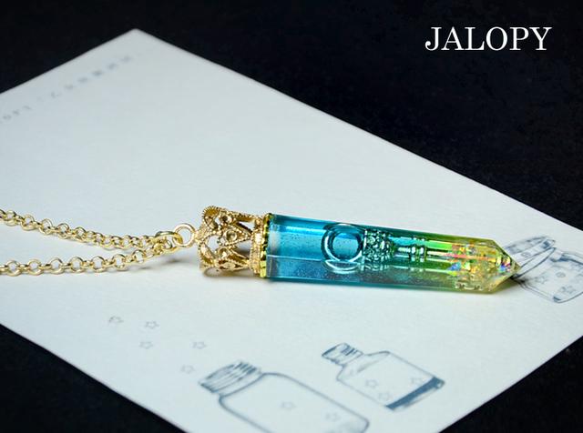 鍵結晶のネックレス-パイナップルビーチ-