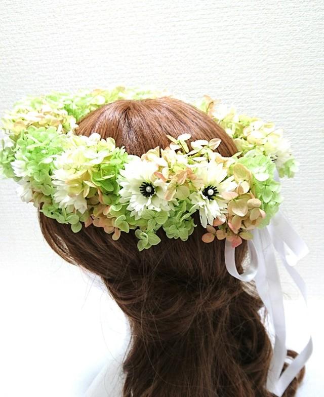 矢車草の花冠