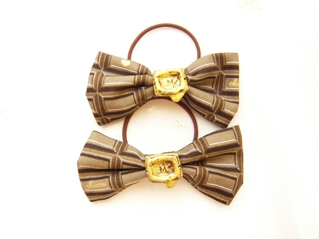 〜Chocolaterie〜クラシックリボンゴム/ビターチョコレート