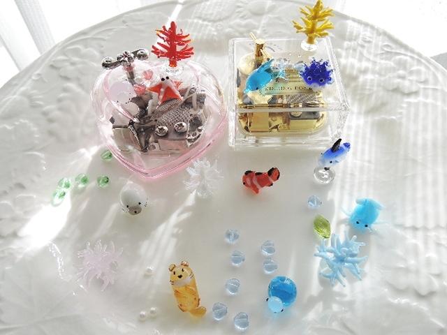手巻きオルゴールデコレーション☆水族館バージョン(544)