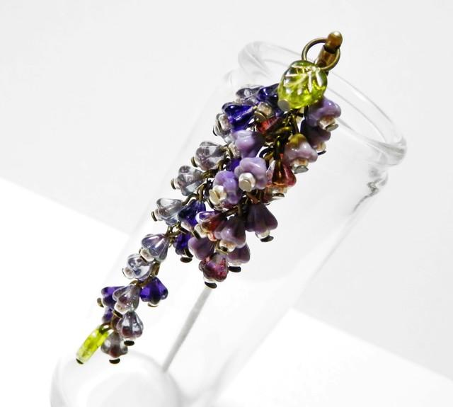 咲き誇る花のかんざし・紫系