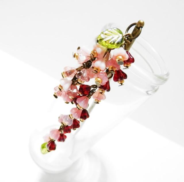咲き誇る花のかんざし・赤・ピンク系