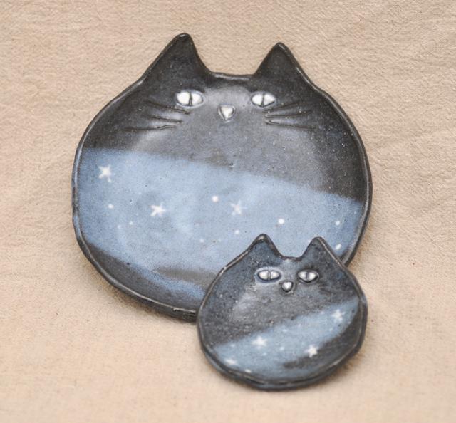 ほし猫の親子皿