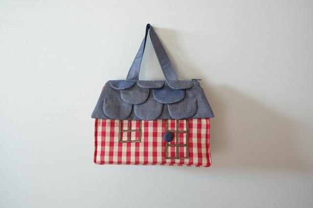 OUCHI box bag S  ギンガムチェック
