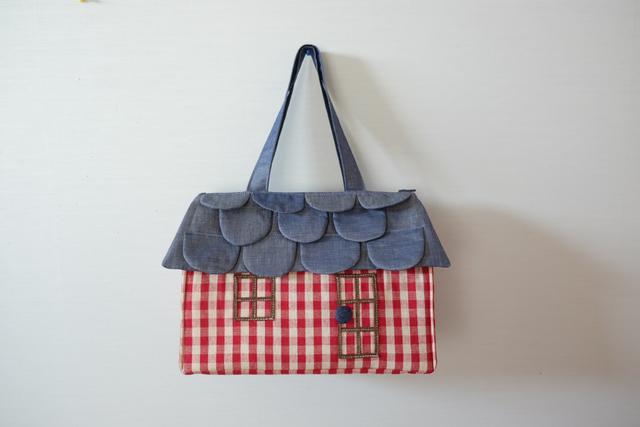 OUCHI box bag L  ギンガムチェック