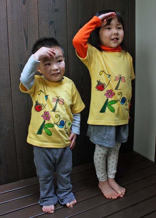 【JIKUU BY SLC】コットン/手描き/ キッズTシャツ『昆虫』