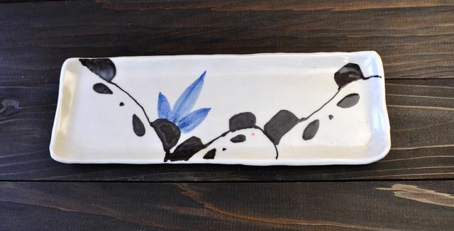 パンダ親子の長皿