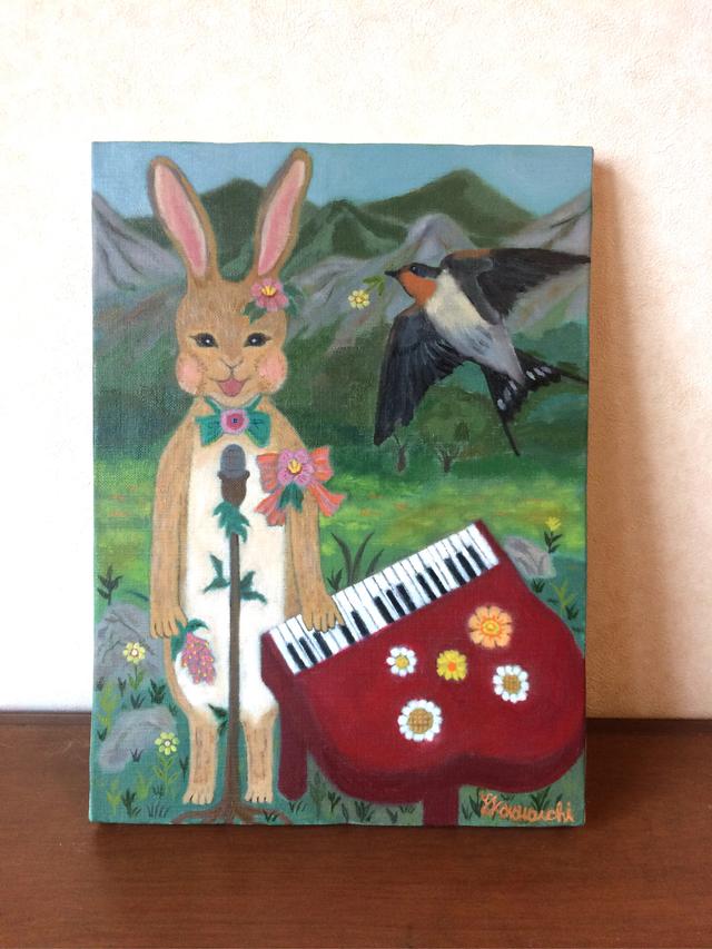油絵「音楽が響いていく」