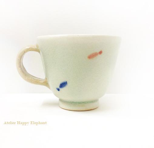 おさかな模様のマグカップ B