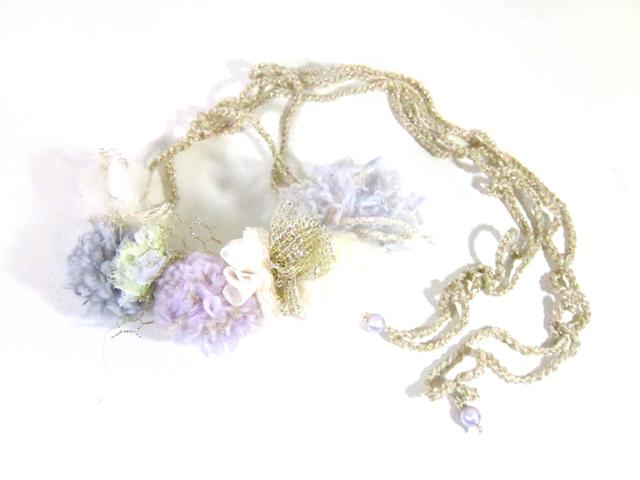 【新作】花冠のようなネックレス「Fluer」AFN-SL010