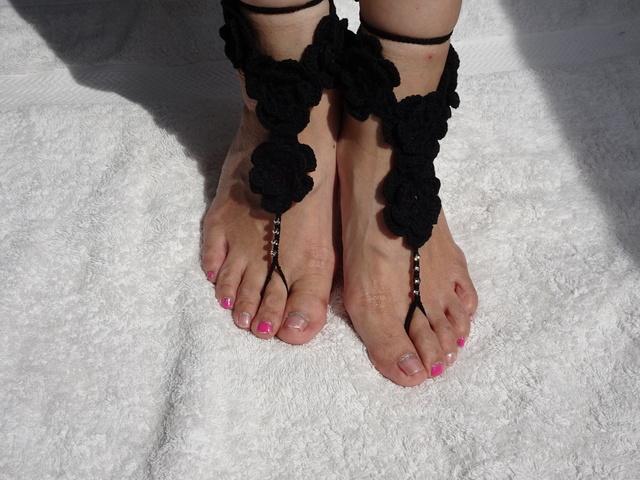 ベアフットサンダル 黒