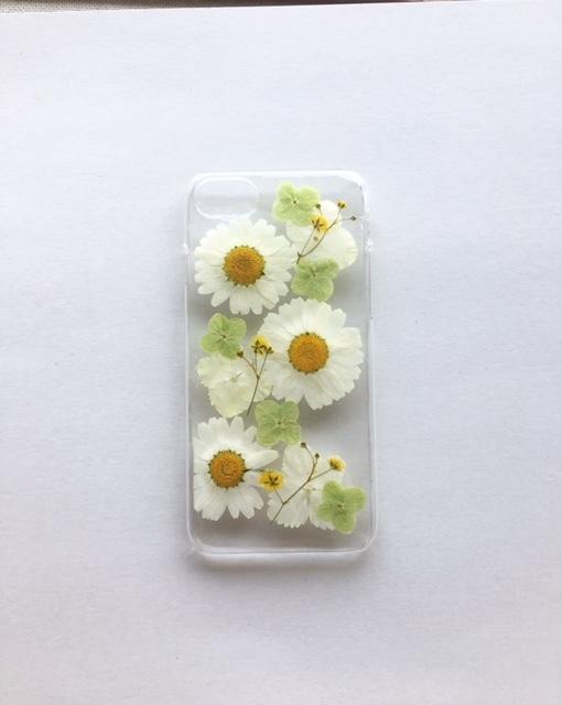 iphone7/6/6s用  押し花のスマホケース