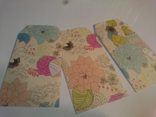 花柄のぽち袋セット