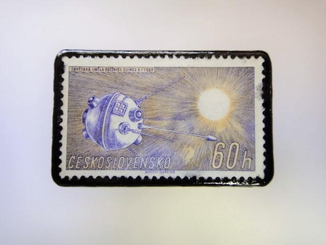 チェコスロバキア 宇宙切手ブローチ 2711