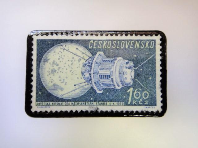 チェコスロバキア 宇宙切手ブローチ 2712