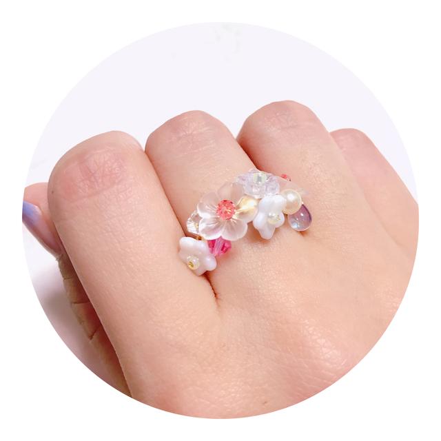 小花のリング~白い花を摘んで~